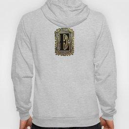 Monogram Initial Letter 'E' Hoody
