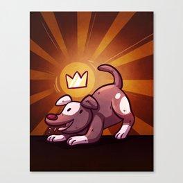 Royal Dog Canvas Print
