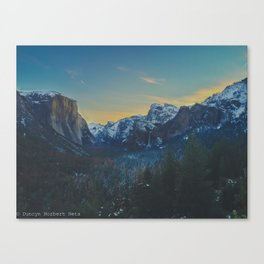 Sunrise in the Valley Canvas Print