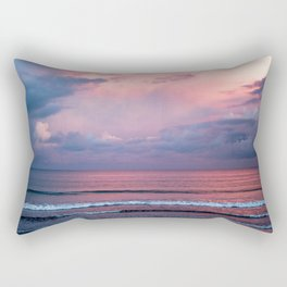 Pink sunset at the beach Rectangular Pillow