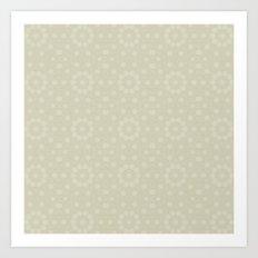 Ivory flower pattern Art Print