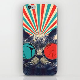 The Spectacled Cat iPhone Skin