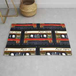 Retro classic vintage gold mix cassette tape Rug