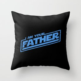 I Am Your Father (blue distressed) Throw Pillow