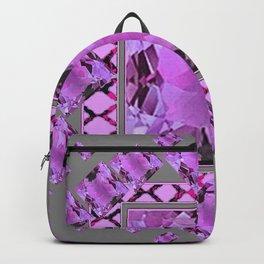 PURPLE AMETHYST FEBRUARY GEM BIRTHSTONES MODERN ART DESIGN Backpack