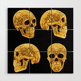 For the Love of Gold Wood Wall Art