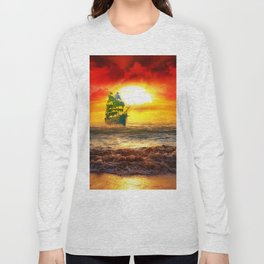 Black Pearl Pirate Ship Long Sleeve T-shirt