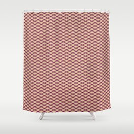 Purple Fishnet Texture on Pale Skin Shower Curtain