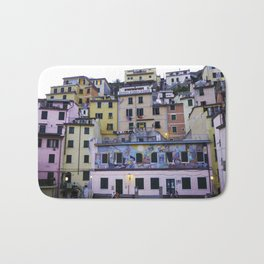 Colourful courtyard of Riomaggiore Bath Mat