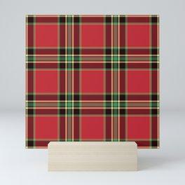 Classic Christmas Tartan Plaid Mini Art Print