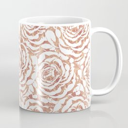 Elegant romantic rose gold roses pattern image Coffee Mug