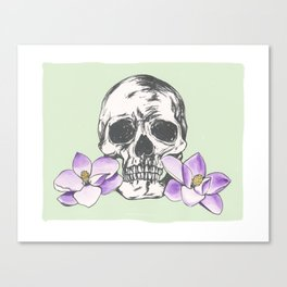 The softer skull Canvas Print