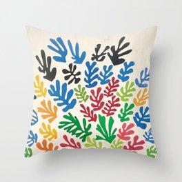 Leaf Cutouts by Henri Matisse (1953) Throw Pillow