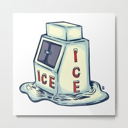Ice Cold Metal Print