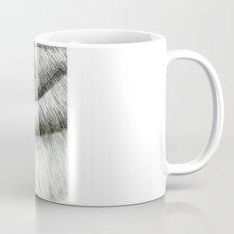Pencil Drawing - Wolf Growl Coffee Mug