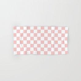 Gingham Pink Blush Rose Quartz Checked Pattern Hand & Bath Towel