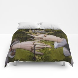 """""""The hands of Bosch and the Spring"""" Comforters"""