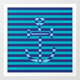 Navy Anchor #2 - Living Hell Art Print