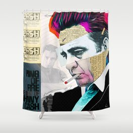 Johnny Cash - The Man In Black Shower Curtain