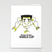 world cup Stationery Cards featuring Mummy Daddy's World cup by Jyoti Khetan
