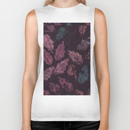 Abstract leaf painting II Biker Tank