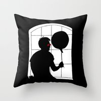 daredevil Throw Pillows featuring Daredevil by Boring Palace