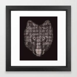 A Patchwork Wolf Framed Art Print