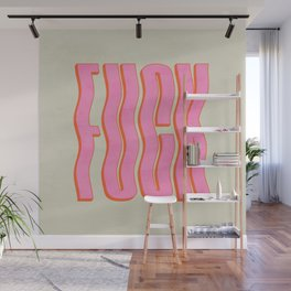 Favorite Word: Peach Wavy Edition Wall Mural