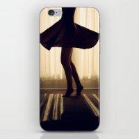 dancer iPhone & iPod Skins featuring Dancer by Kameron Elisabeth
