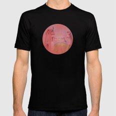 Houses in the sunset Mens Fitted Tee Black MEDIUM