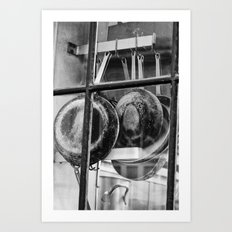 New Orleans - Window to a French Quarter Gourmet Kitchen Art Print