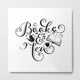 BOOKS & TEA Metal Print