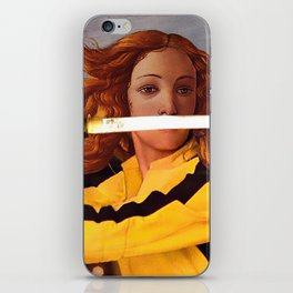 Botticelli's Venus & Beatrix Kiddo in Kill Bill iPhone Skin