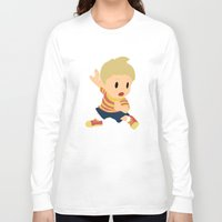 super smash bros Long Sleeve T-shirts featuring Lucas Super Smash Bros by jeice27