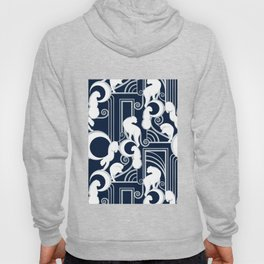 Deco Gatsby Panthers // navy and silver Hoody