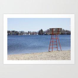 Orangey Beach Art Print