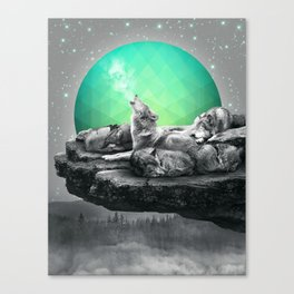 Echoes of a Lullaby / Geometric Moon Canvas Print