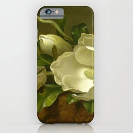 Magnolias on Gold Velvet Cloth iPhone Case