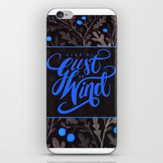 Like A Gust Of Wind iPhone & iPod Skin