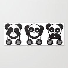 Panda Mantra Canvas Print