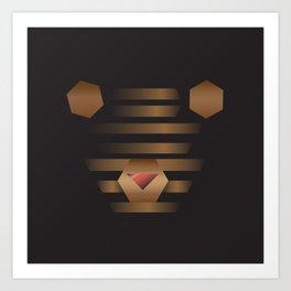 Teddy Bin Art Print