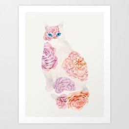 Flower Cat Art Print