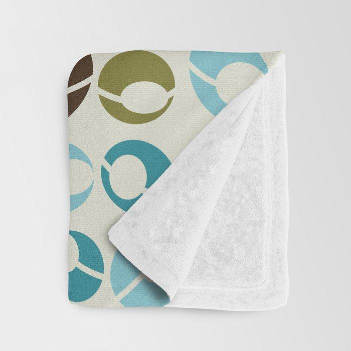 Mid-Century Modern Martini (teal) Throw Blanket