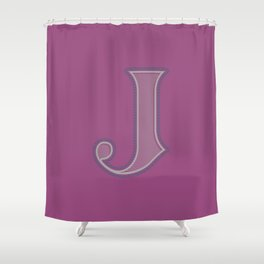 BOLD 'J' DROPCAP Shower Curtain