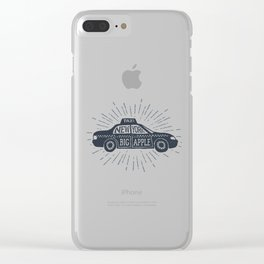 New York. Big Apple Clear iPhone Case