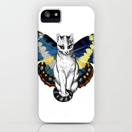 Butterfly Cat iPhone Case