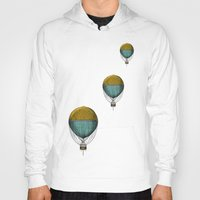 hot air balloons Hoodies featuring Hot Air Balloons by Juste Pixx Designs