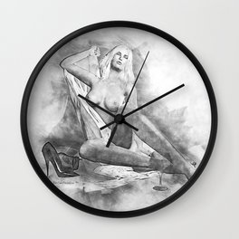 Pencilled for Pleasure Wall Clock