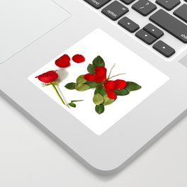 Butterfly-Rose Sticker
