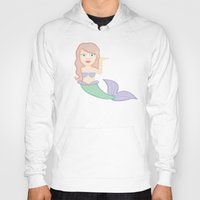 emoji Hoodies featuring mermaid emoji by heykatieking